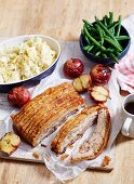 Slow-Roasted Pork Belly with Roast Apples