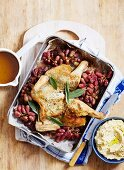 Chicken with Sage and Roast Grapes