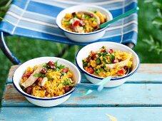 Chicken chorizo risotto