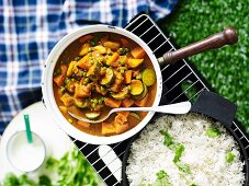 Rich vegetable curry
