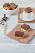 Millionaires shortbread with caramel and chocolate
