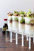 Sushi shots with tuna