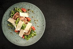 Sliced pork fillet with Parmesan