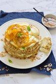 Crepe Suzette cake with mascarpone cream