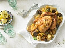 Lemon chicken with potatoes