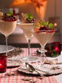 Toffee mousse with salted caramel (Christmas)
