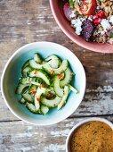 Cucumber and chilli salad