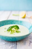 Cold cucumber soup with buttermilk