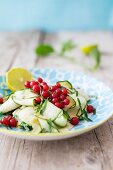 Courgette salad with redcurrants