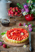 Strawberry tart with mascarpone