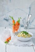 Egg salad with carrots and cress
