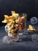 Honey and herring ceviche (Christmas)
