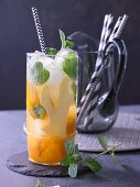 Mint lemonade with ginger and mango