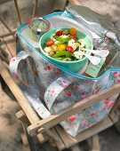 Summer pasta salad for a picnic