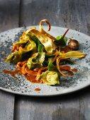 Tortellini stuffed with parsnip mash