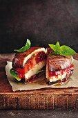 Portobello burger alla Caprese