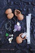 Decorative walnuts for a homemade Advent calendar