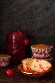 A Maraschino Cherry Cupcake, Cut Open