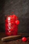 Maraschino Cherries in a jar