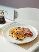 Blueberry Buttermilk Pancakes with Bacon