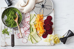Sliced vegetable