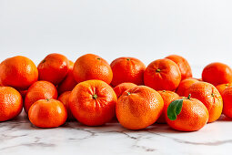 Various different sizes of mandarins