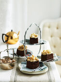 Popcorn and Peanut Brittle Chocolate Cake