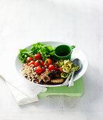 Grilled Vegetable and Black-Eye Bean Salad