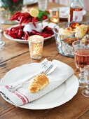 Crayfish with caraway and dill croissants (Sweden)