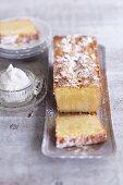 Woodruff and almond cake