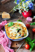 Aubergine bake with minced meat