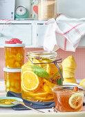 Preserved citrus fruits