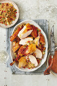 Coconut-glazed turkey with spiced pineapple rice for Christmas