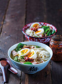 Ramen with pork and eggs