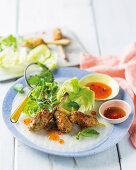 Vietnamese pork and shrimp skewers
