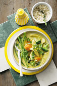 Green curry with chicken and vegetables (superfood)