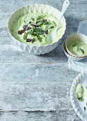 Melon and mint cream with After Eight