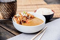 Chicken Katsu Curry served with Rice
