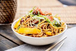 Bowl of vegetarian noodles
