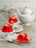 Strawberry jelly served with tea