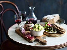 French dinner party with celeriace remoulade