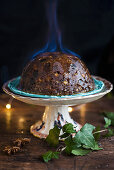 Christmas Pudding flambieren