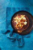 Sticky date tart with caramel apple sauce