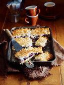 Blueberry Macaroon Slice