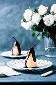 Poire Belle Helene (Birne mit Schokoladensauce, Frankreich)