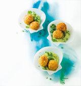 Smoked snoek croquettes with avocado crema