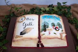 Weihnachtliches Märchenbuch - Motivtorte