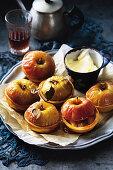 Mini apple pies with cranberries