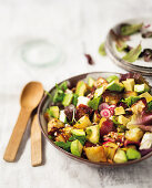 Sweet potato and citrus salad with avocado and mint