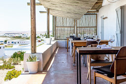 The terrace at the Wolfgat restaurant (South Africa)